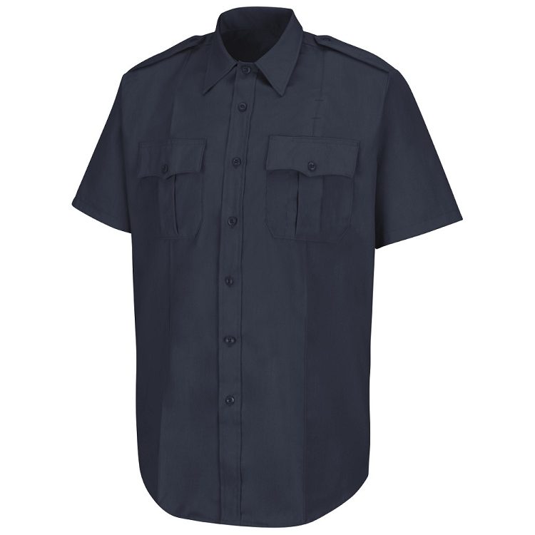 ORDER 1 - Navy S/S Poly/Cotton Shirt